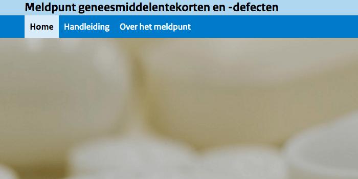 Meldpunt geneesmiddelentekorten en -defecten