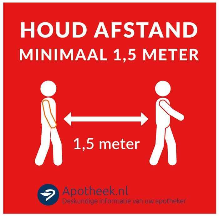 KNMP Stickers Houd afstand